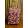 Чехол на чемодан разноцветные коты, размер M