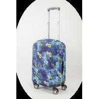 Чехол на чемодан синии джунгли, размер S