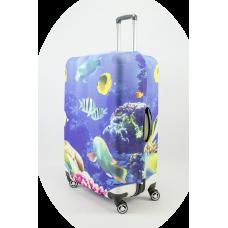 Чехол на чемодан аквариум, размер L