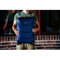 Чемодан Freedom (Комфорт), темно-синий 64 см, M