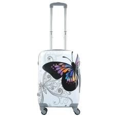 Чемодан King of King Butterfly (Комфорт), белый 55 см, S