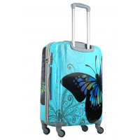 Чемодан King of King Butterfly (Комфорт), голубой 55 см, S