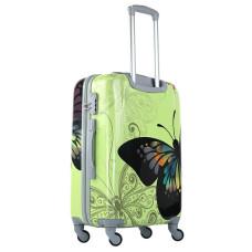 Чемодан King of King Butterfly (Комфорт), зеленый 55 см, S