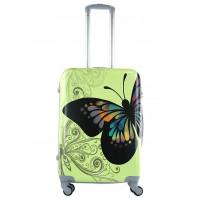 Чемодан King of King Butterfly (Комфорт), зеленый 66 см, М