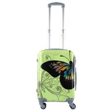 Чемодан King of King Butterfly (Комфорт), зеленый 55 см, S 🛄