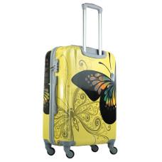 Чемодан King of King Butterfly (Комфорт), желтый 55 см, S