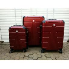 Чемодан Luyida (Комфорт), бордовый 55 см, S
