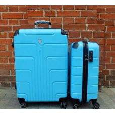 Чемодан Luyida (Комфорт), голубой 55 см, S