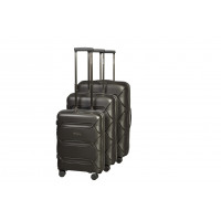 Чемодан L'case Miami (Премиум), черный 56 см, S