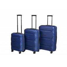 Чемодан L'case Miami (Премиум), синий 56 см, S