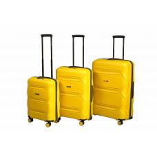 Чемодан L'case Miami (Премиум), желтый 56 см, S