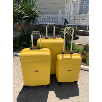 Чемодан MIRONPAN (Премиум), желтый 57 см, S